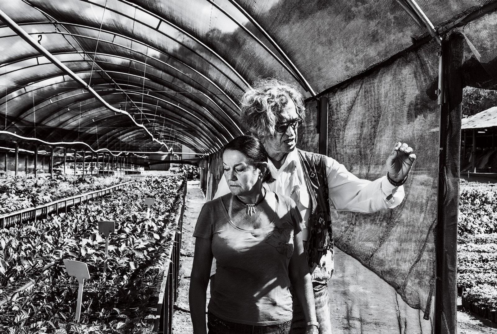 Lélia Salgado et Wim Wenders