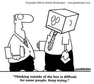 Dur de penser hors de la boîte